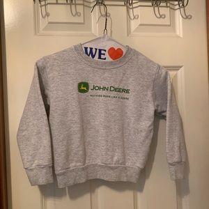 Gray John Deere boys sweatshirt size 3T